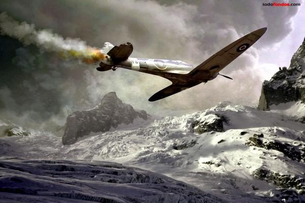 Avioneta a punto de estrellarse