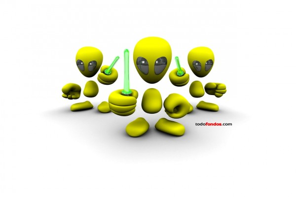 Extraterrestres con sables-láser