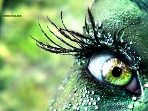 Postal: Ojos verdes