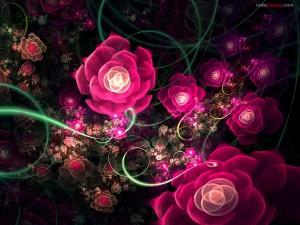 Postal: Rosas digitales