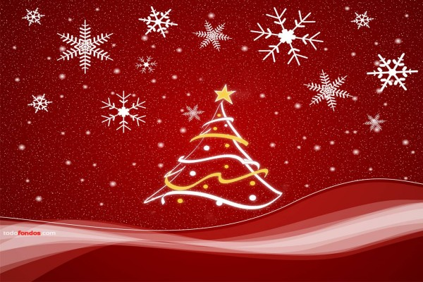 Árbol y motivos navideños
