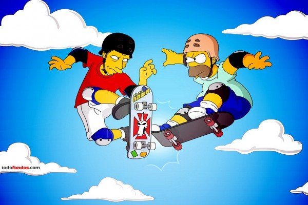 Tony Hawk y Homer Simpson