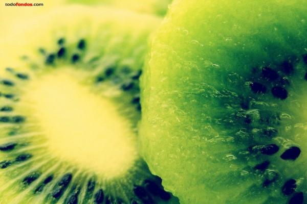 Corte de un kiwi