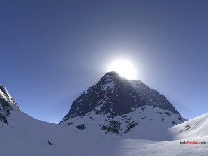 Postal: La cima de la montaña