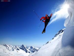 Postal: Salto de esquí