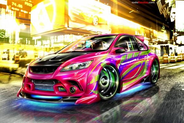 Colorista coche tuneado