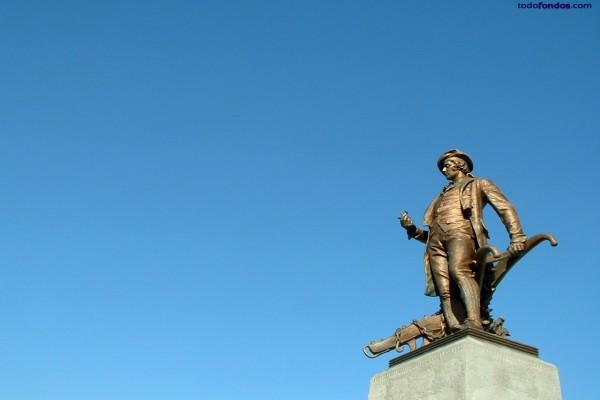 Escultura del poeta Robert Burns