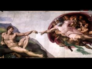 La creación de Adán (Capilla Sixtina) de Miguel Ángel