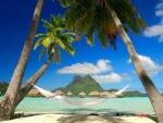 Hamaca en una playa caribeña
