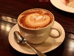 Postal: Café con corazón
