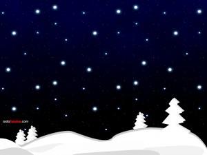 Noche nevada en Navidad