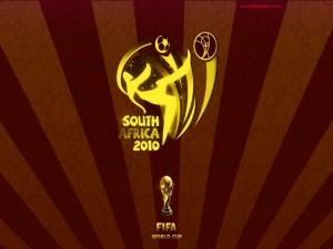 Postal: Mundial de Fútbol de 2010 de Sudáfrica (en marrones)