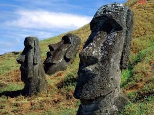 Postal: Moáis de la Isla de Pascua (Rapa Nui)