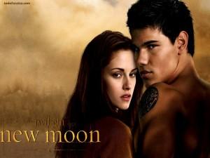Postal: Jacob y Bella (Luna Nueva, Saga Crepúsculo)