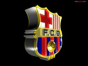 Escudo del F.C. Barcelona en 3D