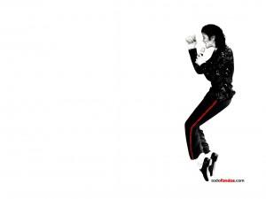 Postal: Michael Jackson de puntillas