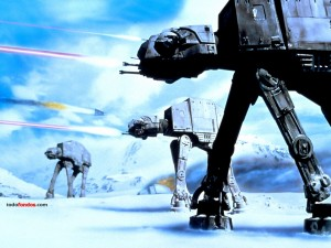 Postal: AT-AT (All Terrain Armored Transport) en combate