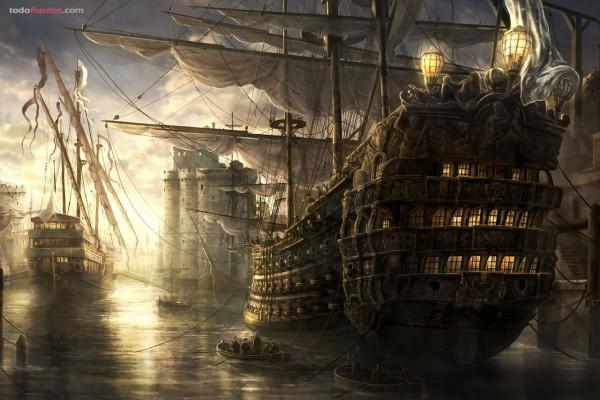 Barcos de guerra antiguos
