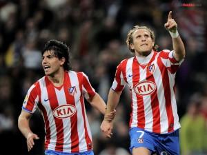 Kun Agüero y Diego Forlán (Atlético de Madrid)