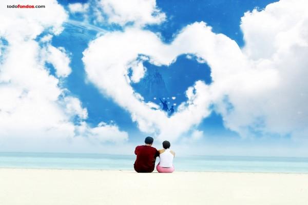 Una playa romántica
