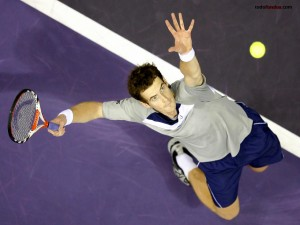 Postal: Andy Murray sacando