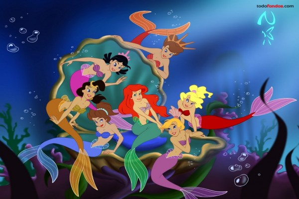 Ariel y sus hermanas (La Sirenita)