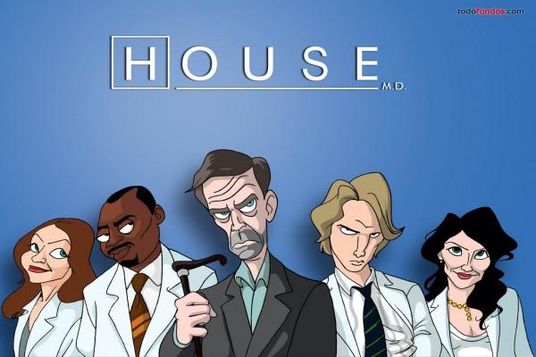 Caricatura de House M.D.