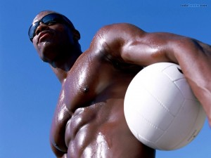 Un hombre negro musculoso
