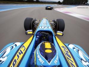 Postal: Fernando Alonso en carrera