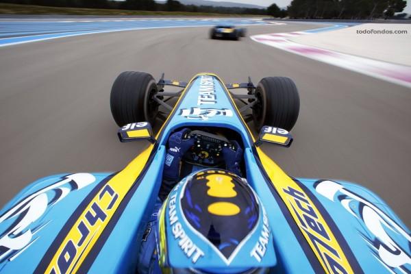 Fernando Alonso en carrera