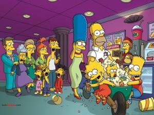 Postal: Los Simpsons van al cine