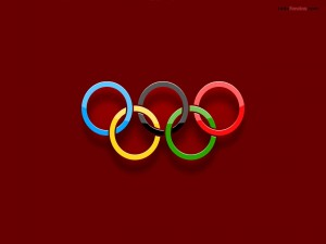 Postal: Anillos de los Juegos Olímpicos