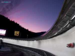 Postal: Luge, deporte olímpico de invierno