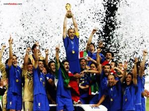 Postal: Italia, campeones del Mundial de Fútbol 2006