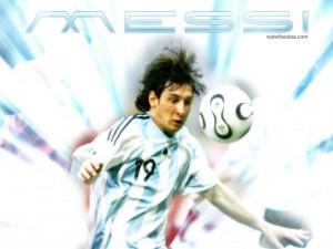 Lionel Messi con la camiseta de la selección argentina
