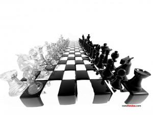 Tablero de ajedrez futurista