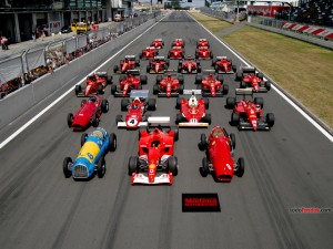 Postal: Monoplazas Ferrari de Fórmula 1 de todos los tiempos
