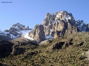 Postal: El monte Kenia