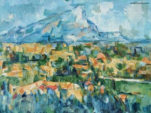 Postal: Le Mont Sainte-Victoire (Paul Cézanne)