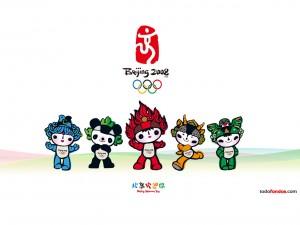 Postal: Las mascotas oficiales de los Juegos Olímpicos Beijing 2008