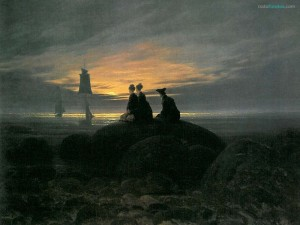 La luna saliendo a la orilla del mar (Caspar David Friedrich)