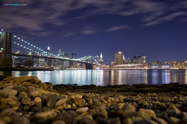 Ciudad de Nueva York y el Puente de Brooklyn