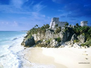 Postal: Ruinas mayas de Tulum (México)