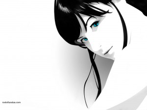 Postal: Ojos azules