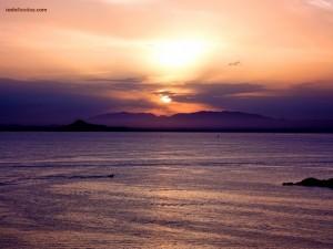 """Puesta de Sol en """"La Manga del Mar Menor"""" (España)"""