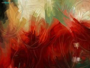 Postal: Trazos abstractos