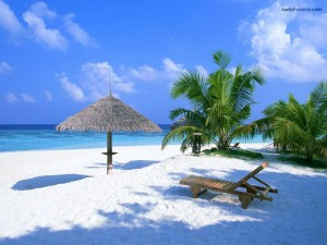 Un paraíso de arena blanca