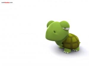 Postal: Tortuga verde 3D
