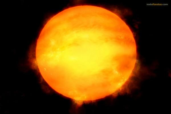 El Sol sobre un fondo negro