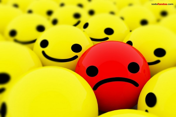 Una cara triste